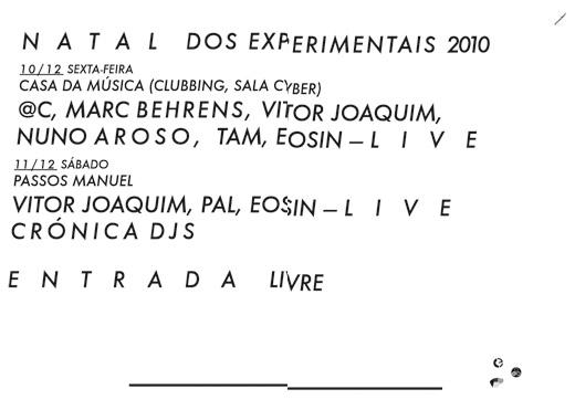 Natal dos Experimentais 2010